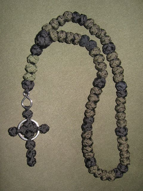 Paracord rosary with Celtic cross.