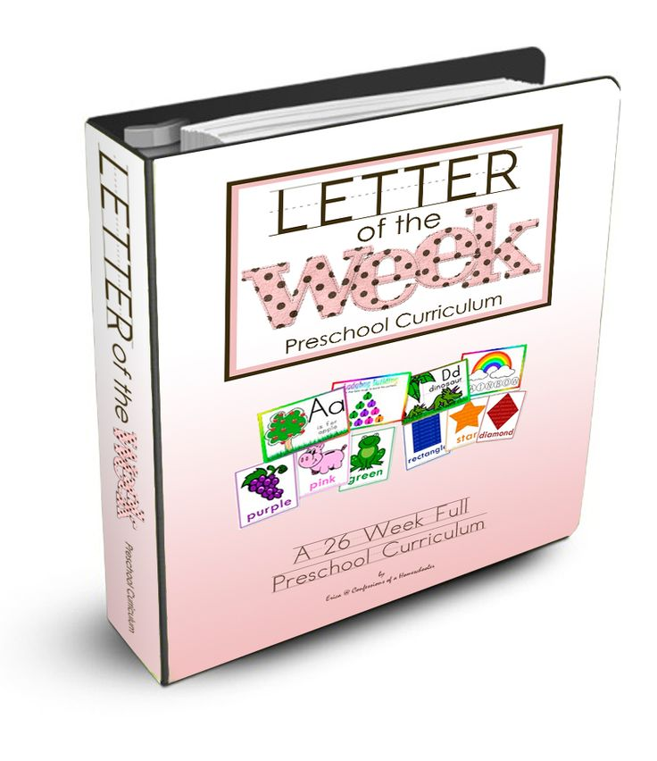 Letter of the Week Curriculum- The Letter of the Week is a full 26 week preschool course designed to give your student a head-start on preparing for kindergarten! It is a 26 week curriculum. Click over to get more information.