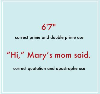 The Apostrophe and Prime Symbol