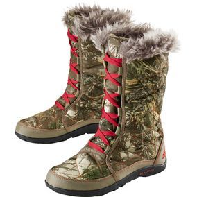 Ladies Realtree Camo Snow Boot