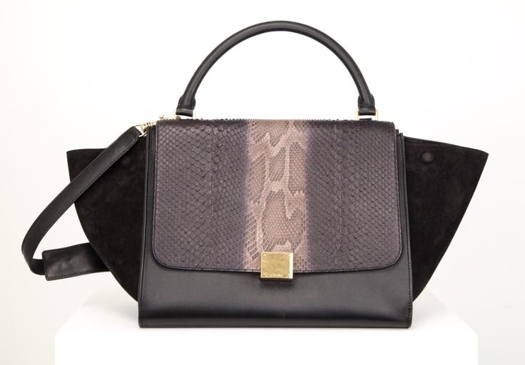 Celine Python Trapeze Bag