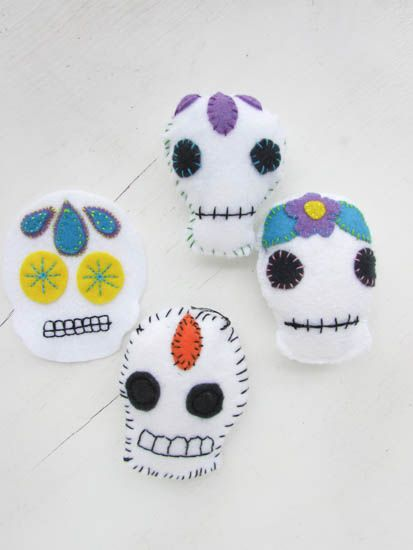 A Lively Hope: Calavera (Sugar Skull) Embroidery Free Pattern