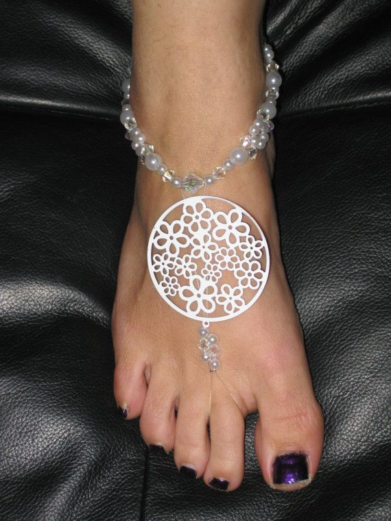 Bare Foot Sandals Bling for your Feet by Domitinktrix on Etsy, $25.00