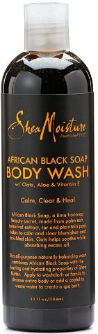 shea moisture African black soap body wash// 5 amazing natural beauty products