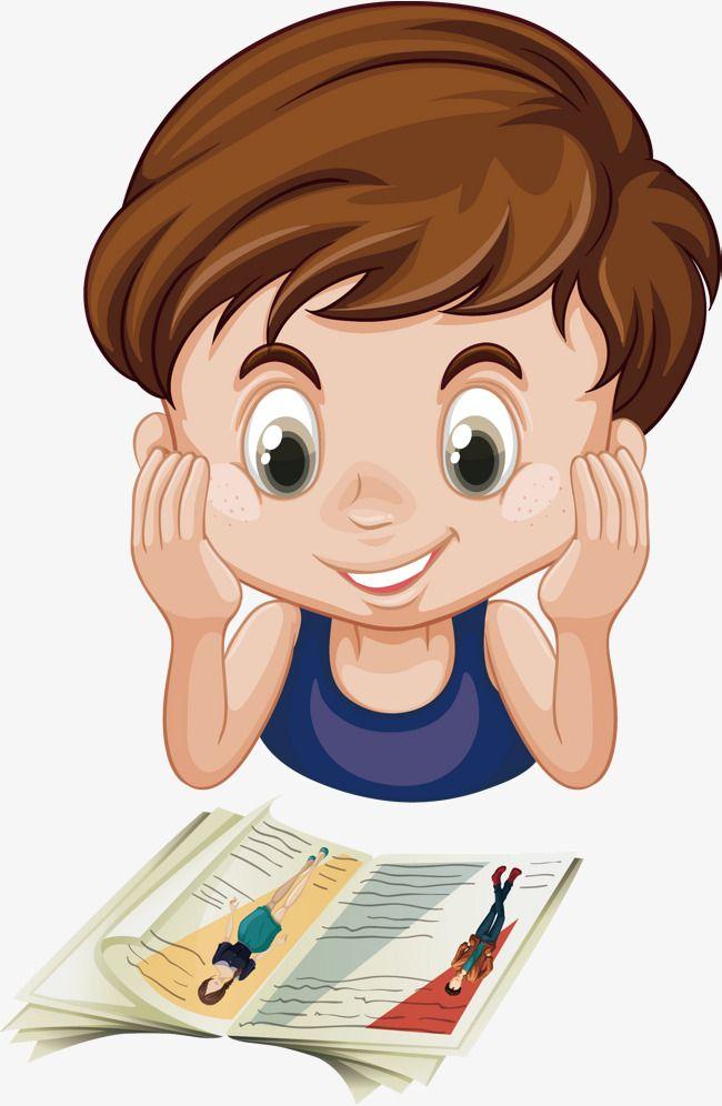 ناقلات صبي قراءة كتاب الصبي المرسومة قراءة القراءة كتاب Png والمتجهات للتحميل مجانا Book Clip Art Reading Cartoon Clipart Boy