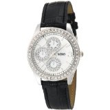 XOXO Women's XO3042 Black Leather Strap Watch (Watch)By XOXO