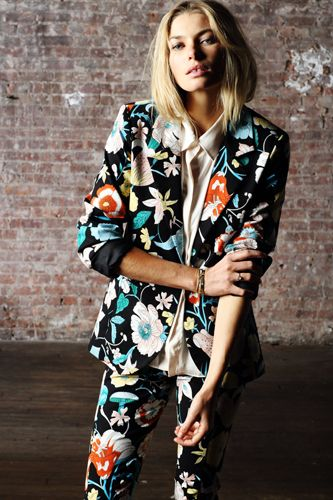 Is it a suit or pajamas? Who cares. It's rad. Pencey Standard floral suit.