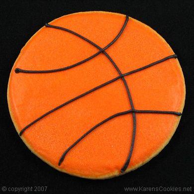 basket ball cookie