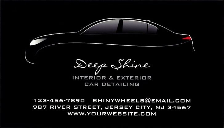 Explore Our Sample Of Auto Detailing Business Cards And Templates Business Card Template Car Detailing Business Cards