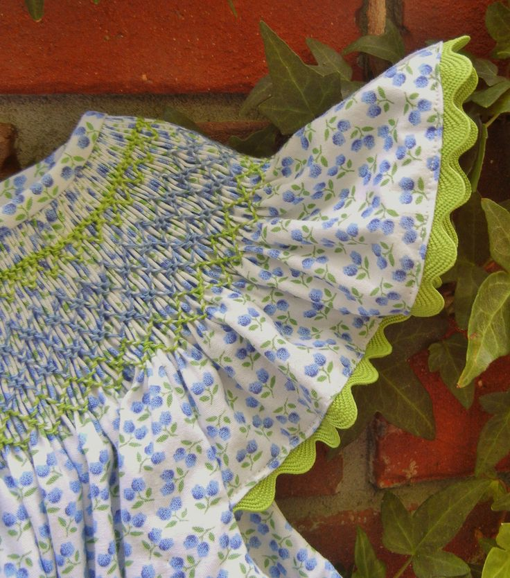 Bishop dress in green and blue. $60.00, via Etsy.