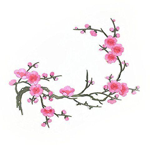 Tinksky Plum Blossom Flower Applique Clothing Embroidery ... amazon.com