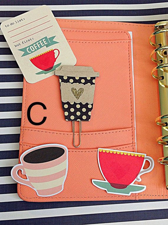 Coffee Cup Paper Clips от PrettyPaperPieces4U на Etsy