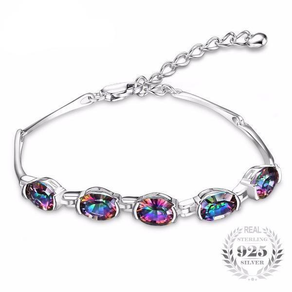 Mystic Rainbow Topaz Tennis Bracelet – Magic Stones World