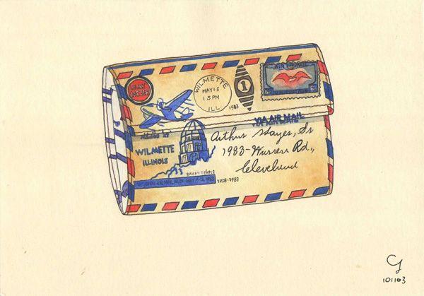 復古信封紙作證件夾 Wallet
