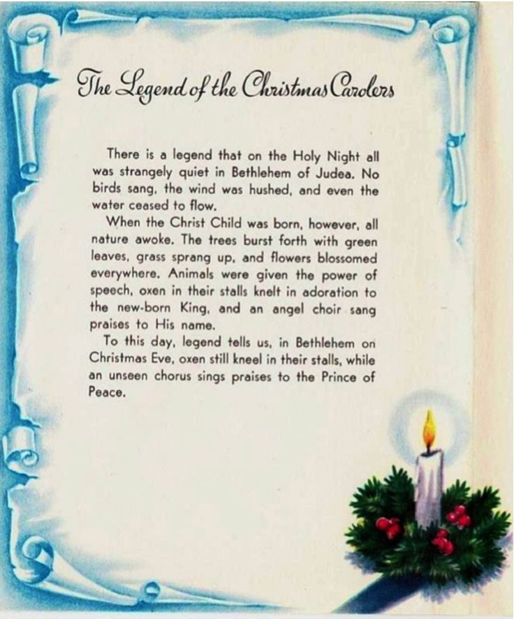 The Legend of the Christmas Carolers.