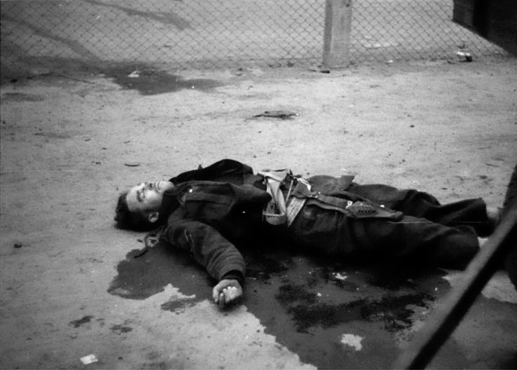A British commando, killed in action during the Saint-Nazaire Raid, lies in a pool of blood. The Saint-Nazaire Raid (codenamed Operation Chariot) was a successful British amphibious attack on the heavily defended Louis Joubert Lock at Saint-Nazaire in German occupied France. The operation was undertaken by the Royal Navy and British Commandos under the auspices of Combined Operations Headquarters. Saint-Nazaire was targeted because the loss of its dry dock would force any large German…