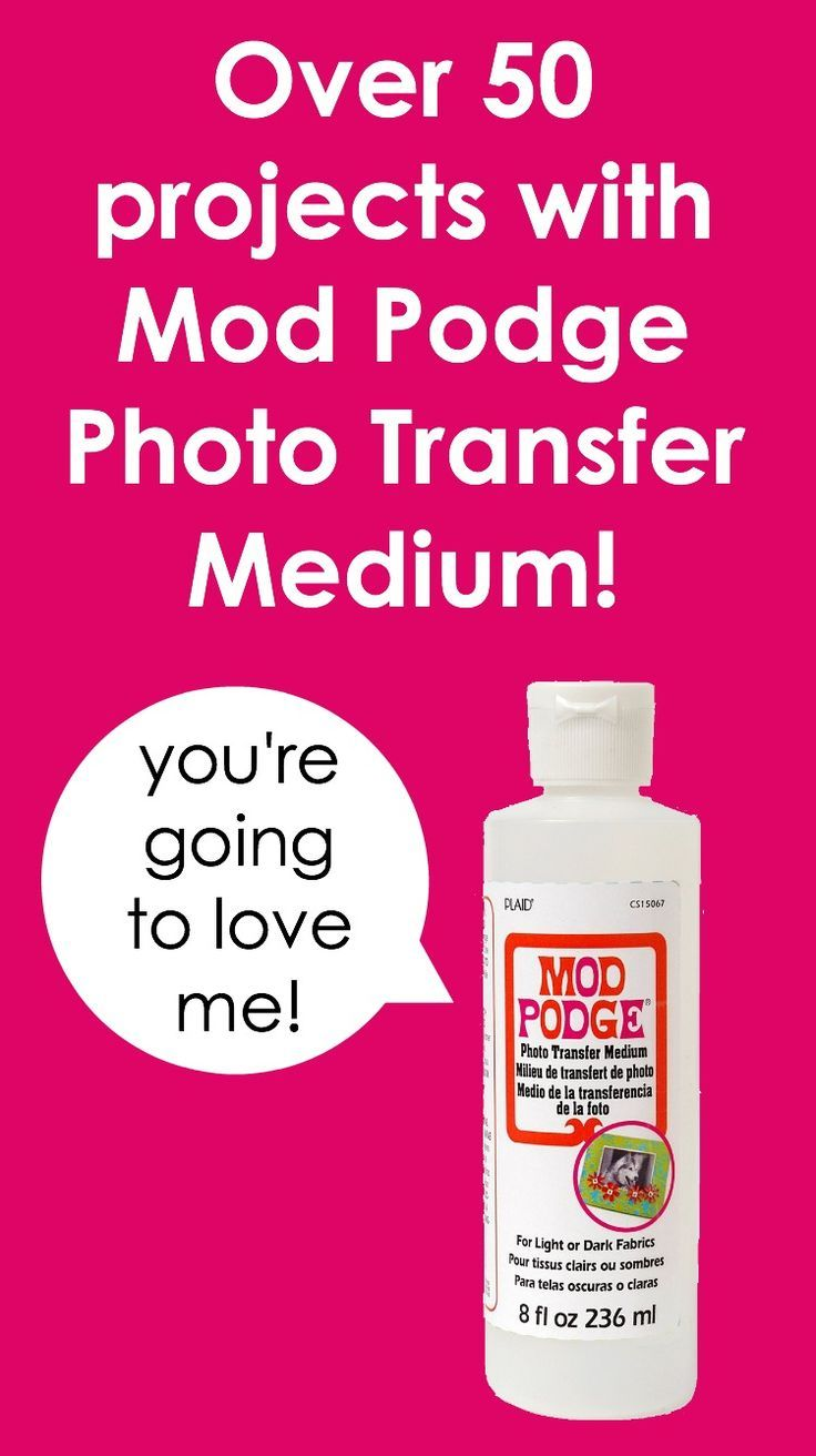 Are you interested in Mod Podge Photo Transfer Medium? Check out this archive of 50 projects! This is going to be one of your favorite craft supplies!