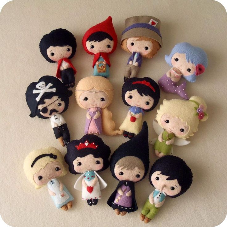Fairy Tale Dolls pdf Patterns - by Gingermelon. I know some little girls who would LOVE these!