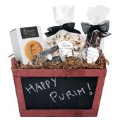 Find here purim kosher gift baskets, mishloach manos baskets, shalach manos gift baksets made by Yachad Gifts, ship from Brooklyn, NYC