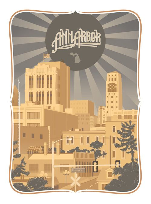 Ann Arbor travel poster
