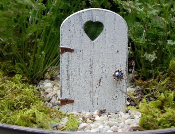 Petite f e porte pour jardin rustique en d tresse crackle de miniature fini jardins miniature - Jardin de fee ...