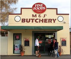 M & J's Butchery, Orange - specializing in high quality meat & game, Flat Pack Marinade Shoulders, an award winning range of gluten free Sausages.