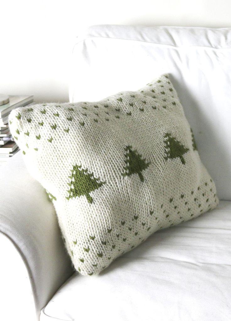 Christmas Tree Cushion Knitting Kit - Intermediate Pillows Pinterest Tr...