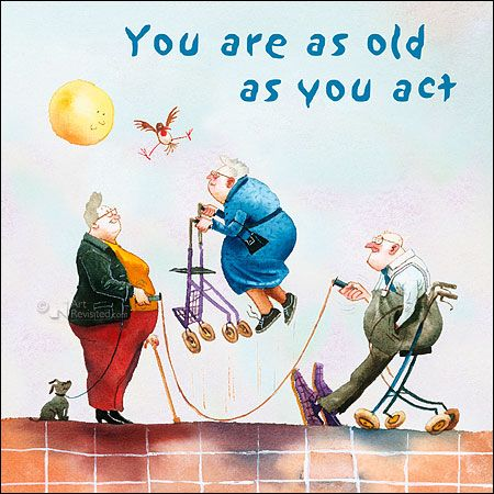 You are as old as you act Marius van Dokkum