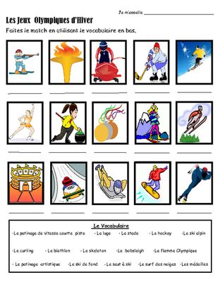 Winter Olympic Games-Jeux Olympiques in FRENCH! from KidsLoveSchool! on TeachersNotebook.com (33 pages)
