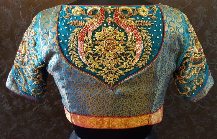 Beautiful designer blouse with embroidery work from Mana Design studio. 25 May 2017