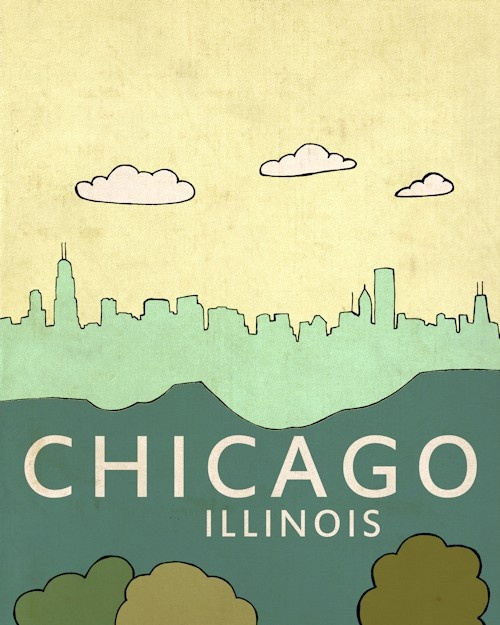 Love this Chicago one - also has a Boston one, different colors too.  She lives in Rochester, NY!