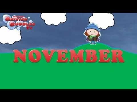 Los meses en ingles - aprender en inglés los meses del año. BBTV7 - YouTube