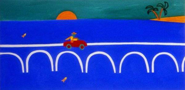 The Trip That Never Was, 2002. Oil on linen, 30 x 60 cm. Private collection. #painting #oilpainting #finearts #contemporaryart #cristinarodriguez
