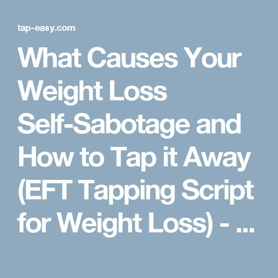 eft weight loss tapping script
