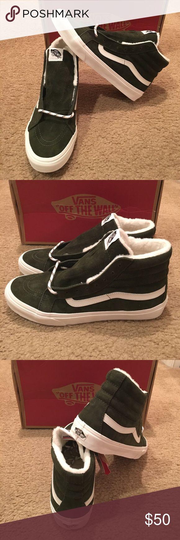 Vans Scotchgard Sk8Hi Slim New in box. Duffel bag/ Blanc de blanc Vans Shoes Sneakers