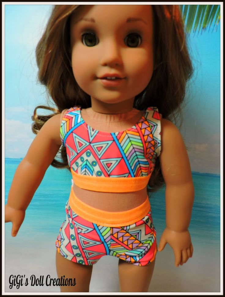 GiGi's Doll and Craft Creations: American Girl Doll 2016 Swimsuit Collection by GiGi's Doll Creations for Lea Clark and other American Girl Dolls