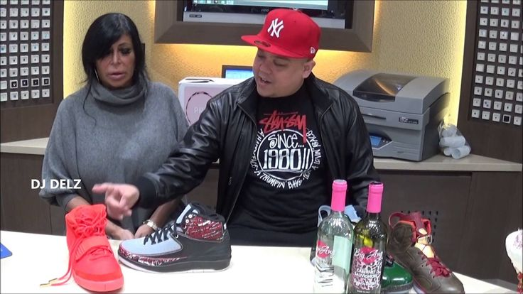 VH1 Mob Wives Big Ang Plays @DjDelz Sneaker Addict Show #PICKONE Game