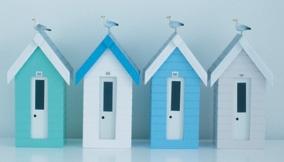 little beach cabanas!