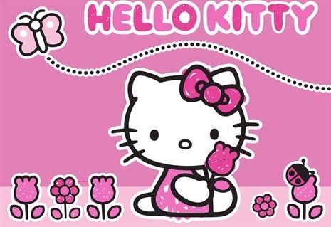 Hello Kitty, Matta, 95 x 133 cm, Butterfly Mattor Textilier Barnrum på nätet hos Lekmer.se