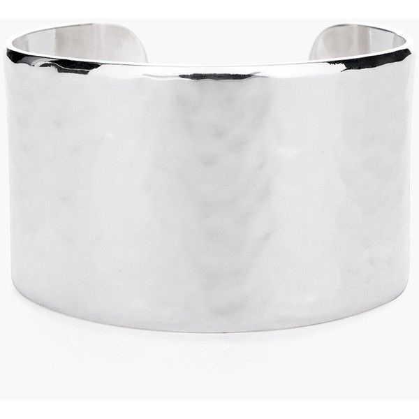 Chico's Silver-Tone Cuff ($49) ❤ liked on Polyvore featuring jewelry, bracelets, silver, cuff jewelry, cuff bangle, hammered jewelry, chicos jewelry and silver tone jewelry