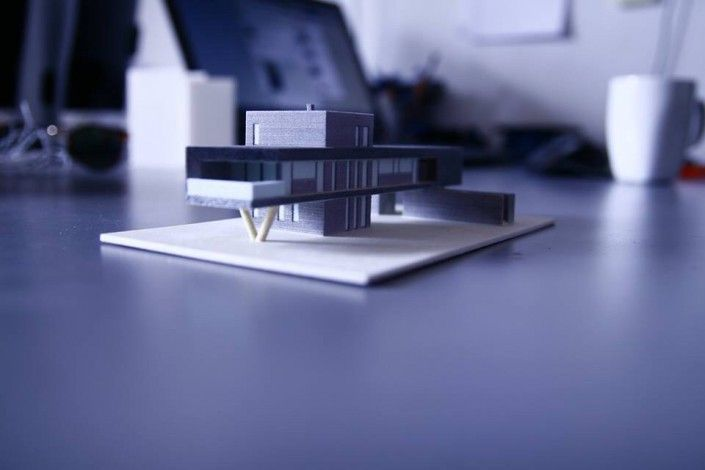 3d printed in CJP  architecture scale model