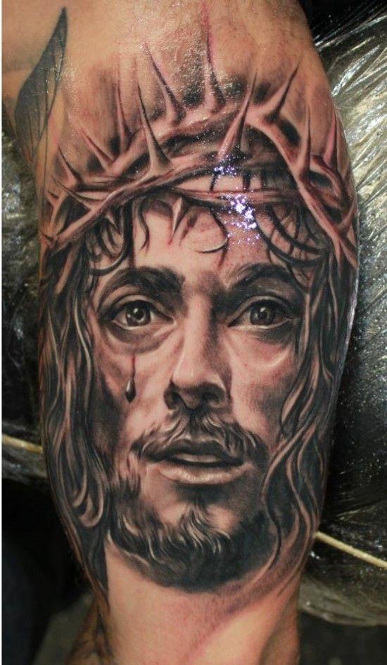 weeping jesus tattoo jesus tattoos tattoos picture famous tattoos famous tattoos pinterest. Black Bedroom Furniture Sets. Home Design Ideas