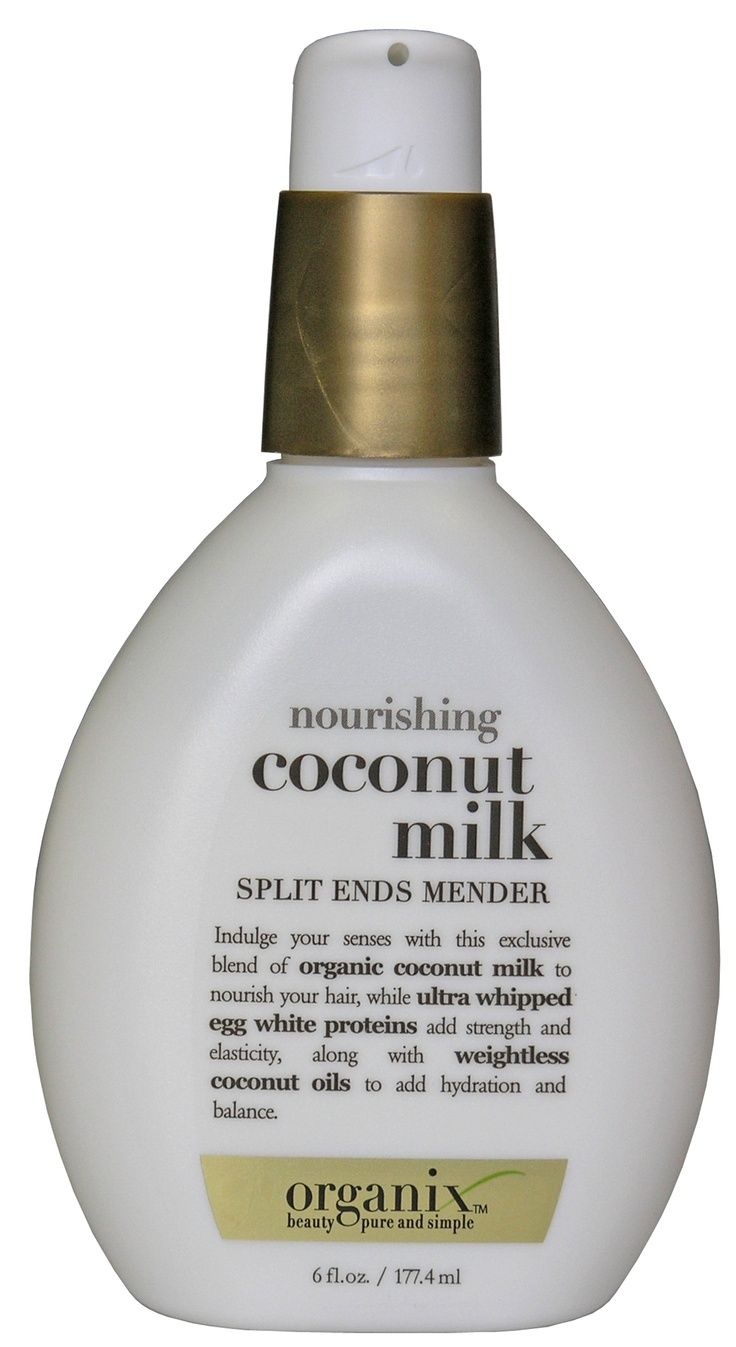 Organix Nourishing Coconut Milk Split Ends Mender. Never tried this but the shampoo works great so ima try this