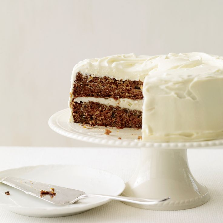 Fluffy cream cheese frosting makes the ultimate topper for an ultramoist and classically flavored carrot cake.