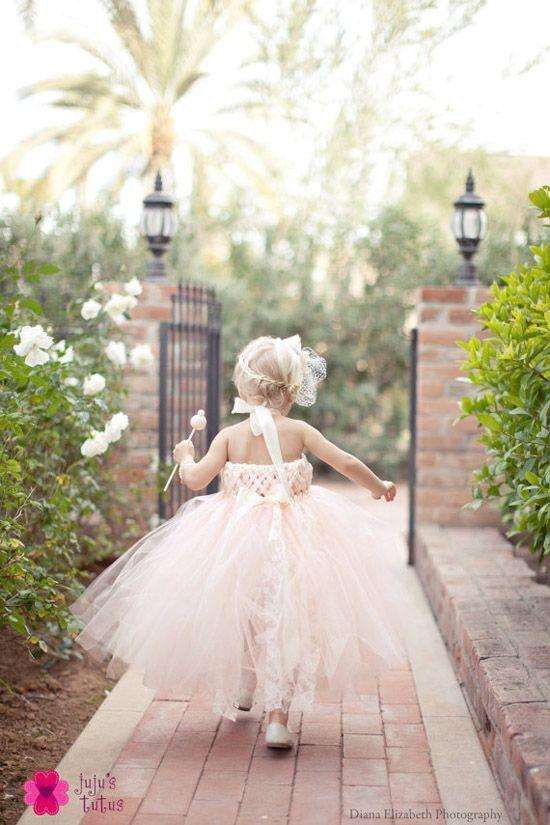 Pink flower girl