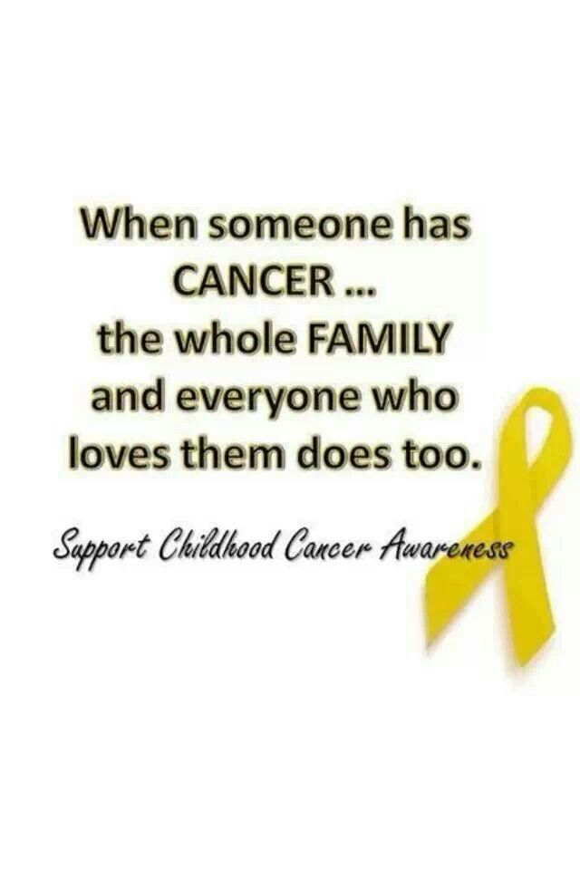Childhood Cancer.. Totalmente de acuerdo