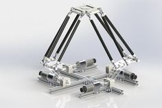 Quadro Delta (4 Degrees of Freedom parallel manipulator)