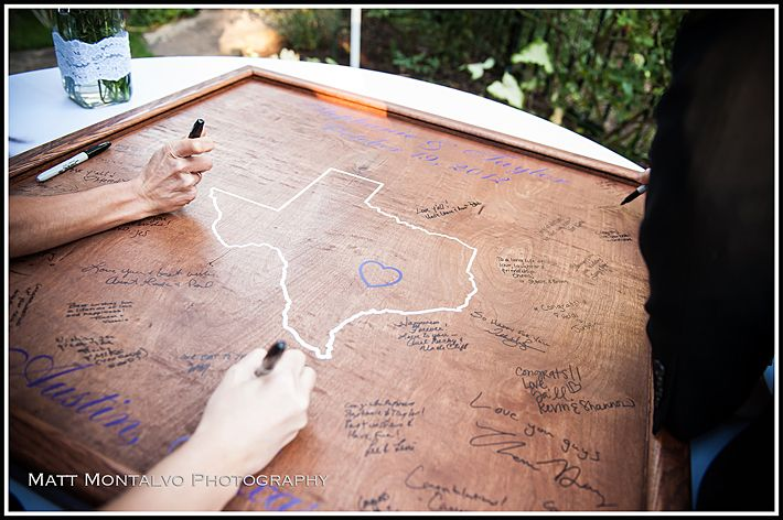unique texas wedding guest book