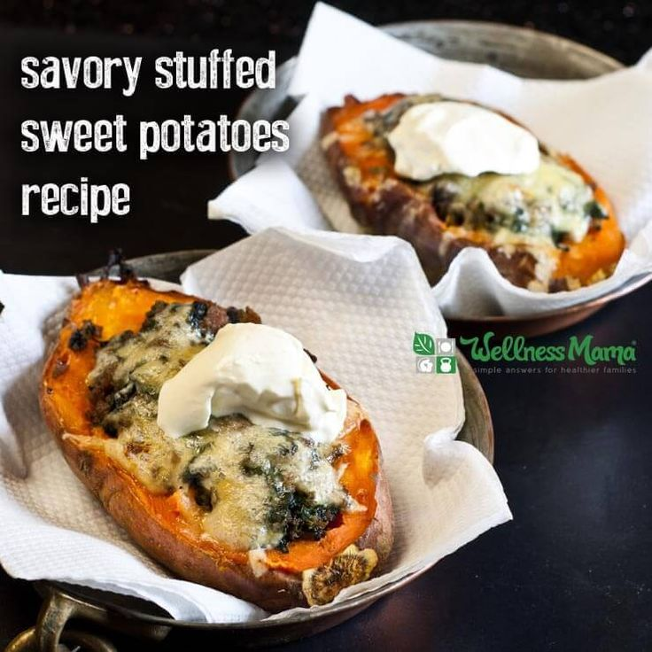 Stuffed Sweet Potatoes are a simple and very nutritious easy meal idea that can be prepared ahead for a healthy meal on the go. Kids love these!
