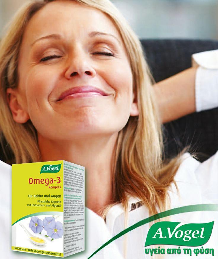 το A.Vogel Omega-3 complex είναι φυτικό μείγμα Ω3 λιπαρών οξέων,που συνδυάζει όλες τις ευεργετικές τους ιδιότητες,στις υψηλότερες προδιαγραφές καθαρότητας, τη μέγιστη απορρόφηση και βιοδιαθεσιμότητα των δραστικών συστατικών του,χωρίς ουσίες ζωικής προέλευσης και επομένως την αποφυγή τοξικών βαρέων μετάλλων και αλλεργιογόνων παραγόντων (ψάρια και όστρακα).  http://www.avogel.gr/product-finder/avogel/omega3_caps.php http://www.avogel.gr/pflant-encyclopaedia/linum_usitatissimum.php